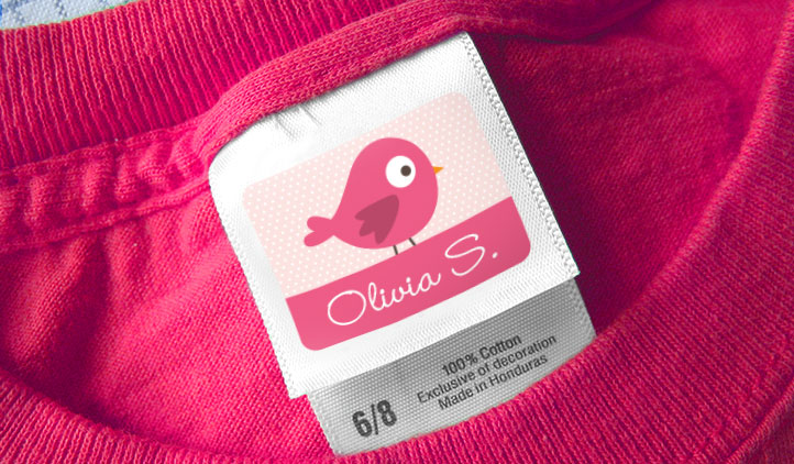 stick on clothing tag