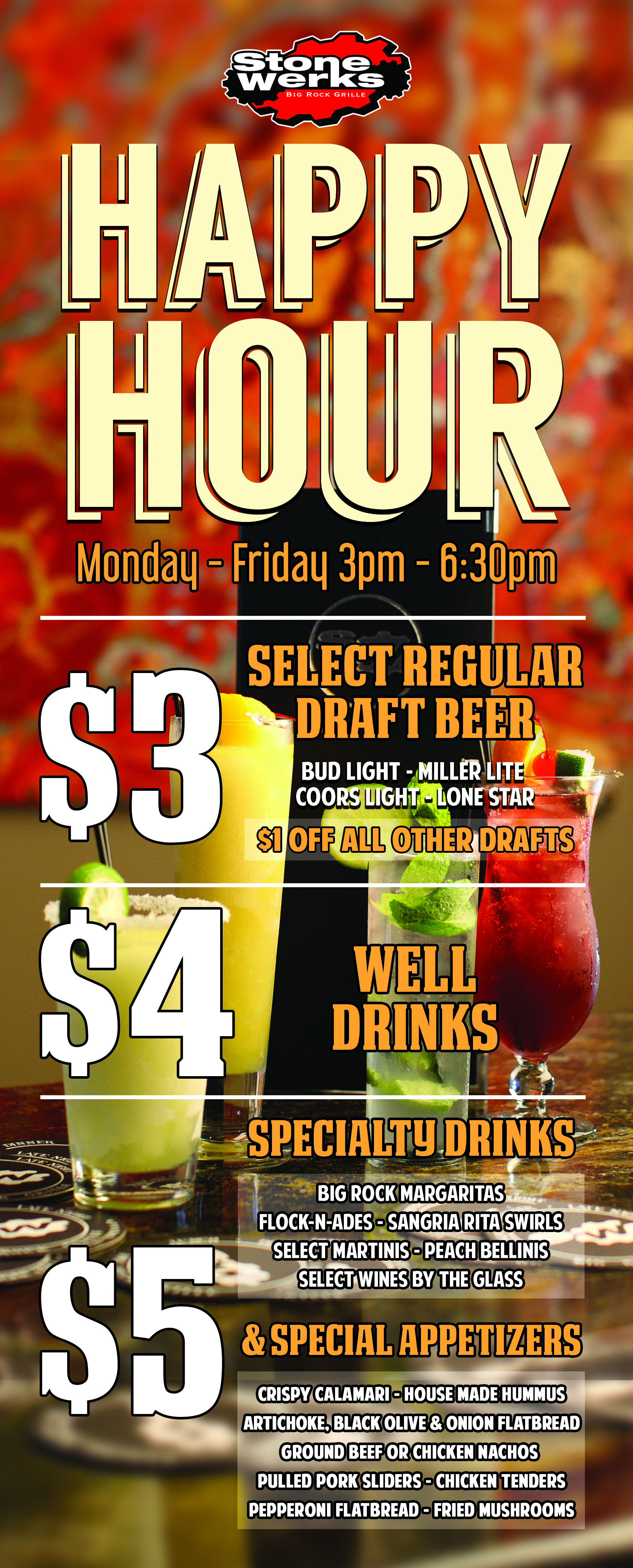 Our Happy Hour  Stone Werks