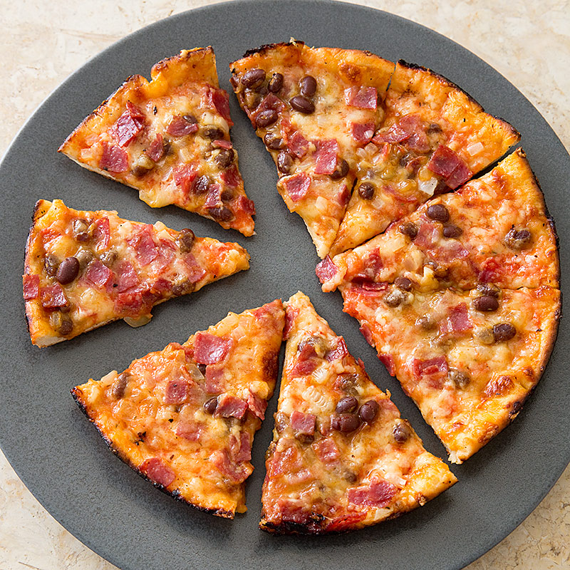 New England Bar Pizza with Baked Beans and Salami  Cooks