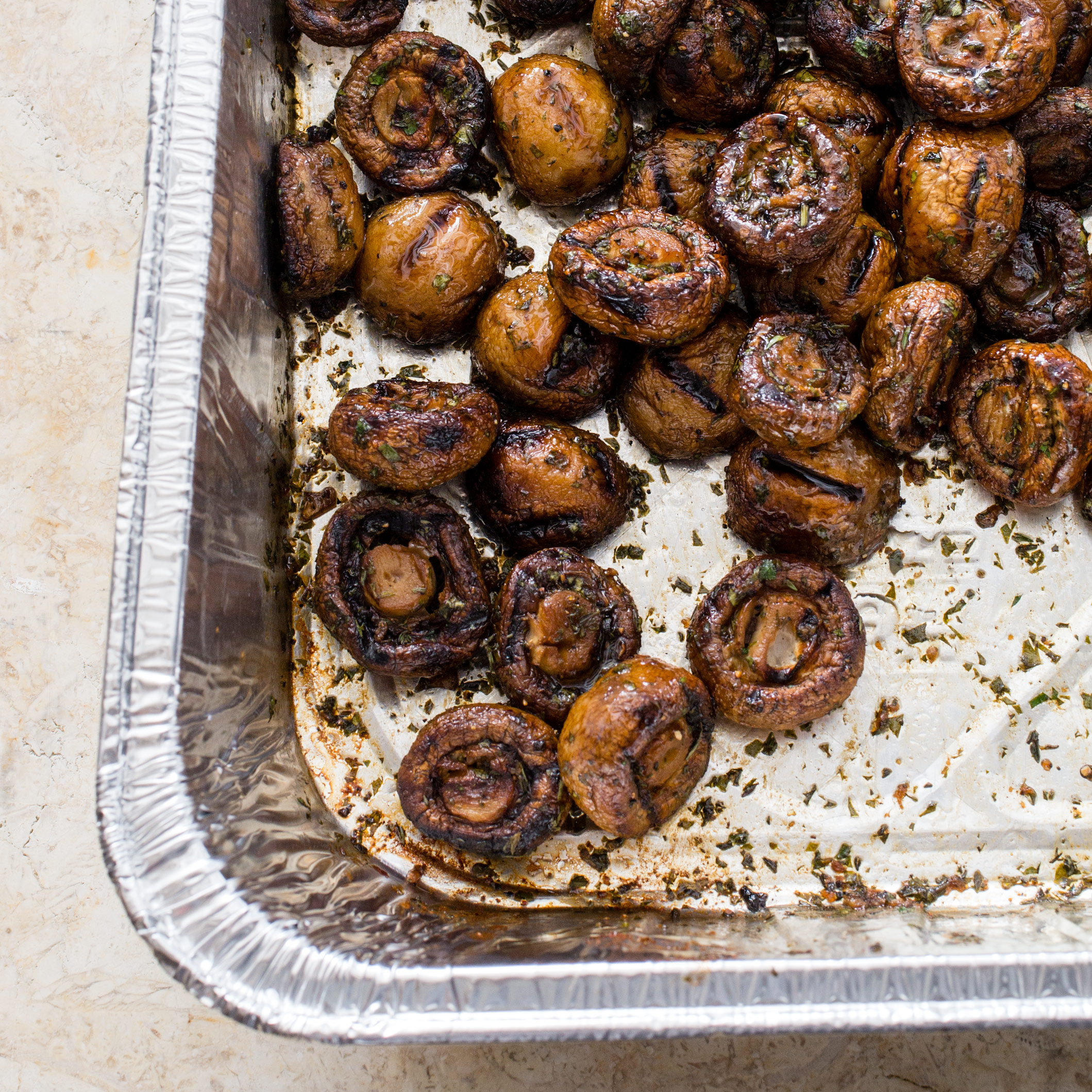Grilled Button Mushrooms Cooks Country