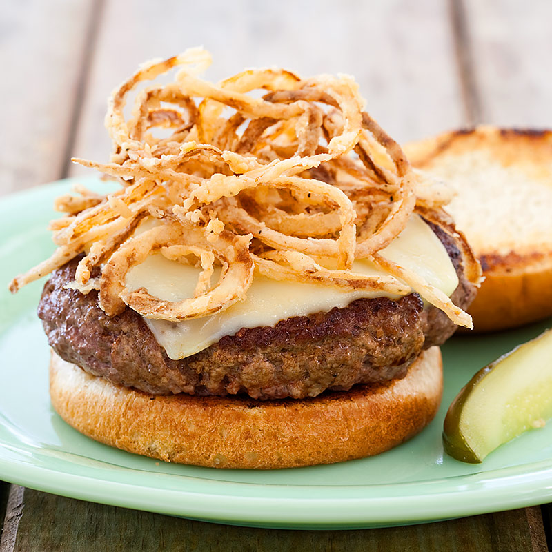 Indoor Burgers With Crispy Onions Cooks Country