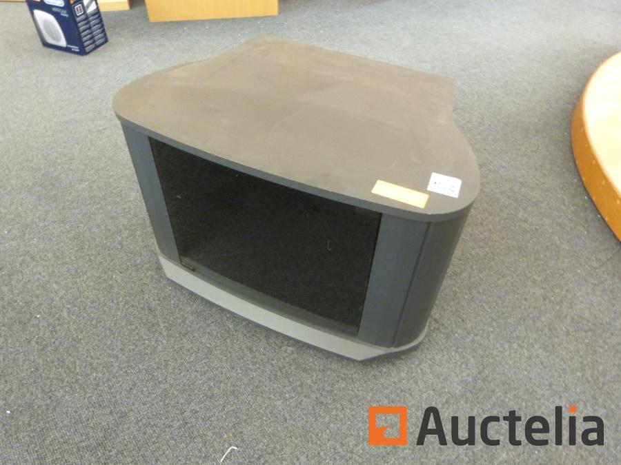 meuble tv sur roulettes avec porte en verre