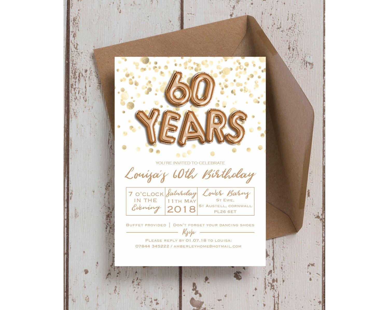 12 x mens birthday party invitations