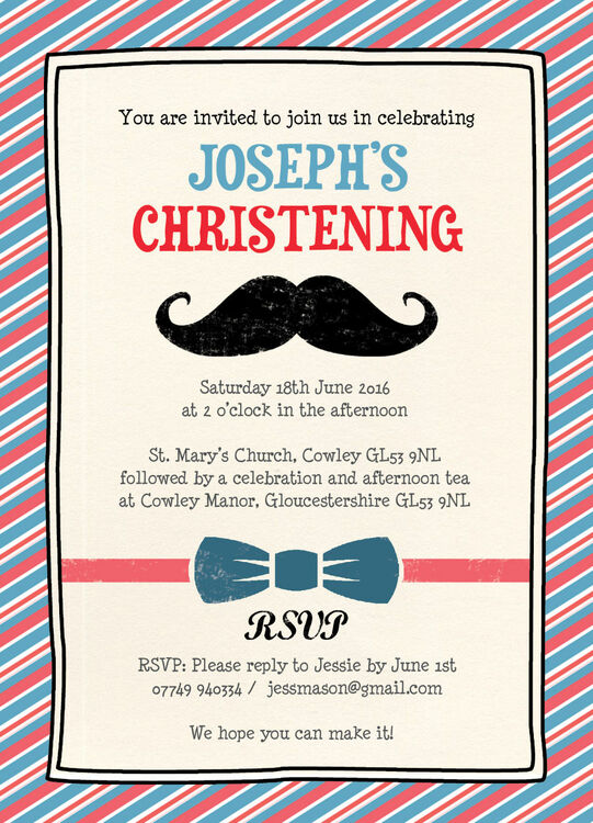 Christening Invitations Print Home