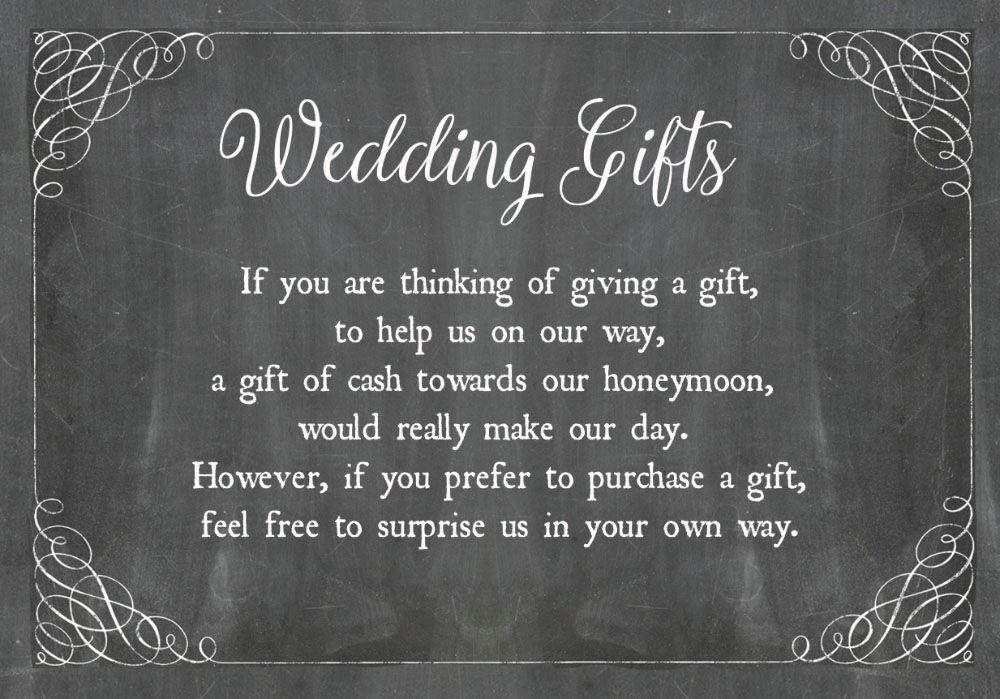Chalkboard Wedding Gift Wish Card From £0.40 Each