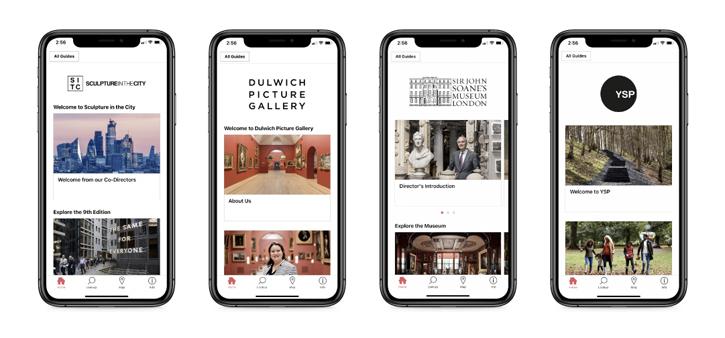 Quatre guides sur l'application Bloomberg Connects