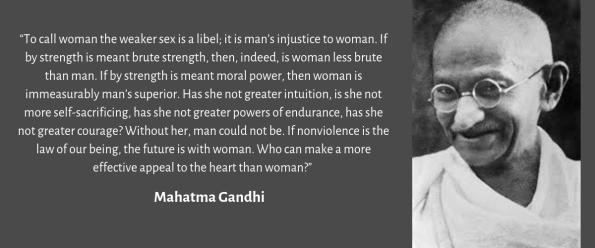 Quote on women by Mahatama Gandhi