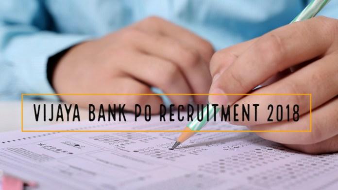 Vijaya Bank 2018 Recruitment
