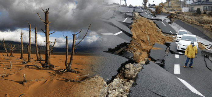 Climate changes and earthquake