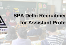 SPA Delhi Recruitment 2019