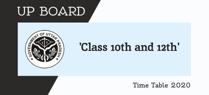 UP Board Class 10th and 12th Exam Schedule