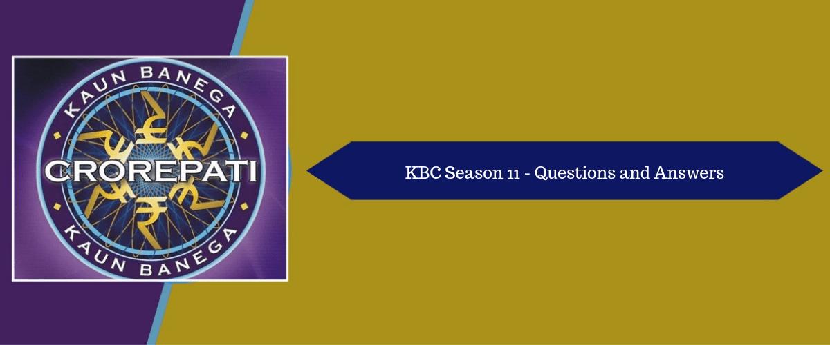 Kaun Banega Crorepati (KBC) Season 11 Episode-2 Questions