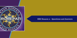 KBC 11 questions and answers