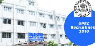 OPSC Recruitment 2019 for Graduate Teachers