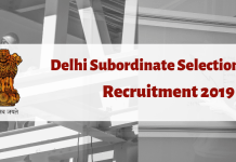 DSSSB Assistant Teacher and JE recruitment 2019