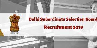 DSSSB Assistant Teacher and JE recruitment 2019