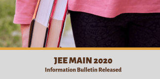 JEE Main 2020 Information Bulletin