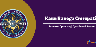 Kaun Banega Crorepati (KBC) 11 Episode 13 Questions and Answers