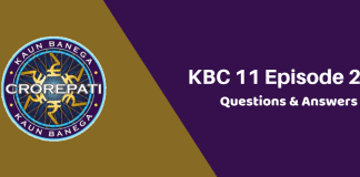 Kaun Banega Crorepati (KBC) Season 11 Episode 23 Questions and Answers