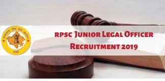 RSPC JLO Recruitment 2019