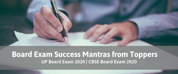 Toppers Success Mantra for Board Exam 2020
