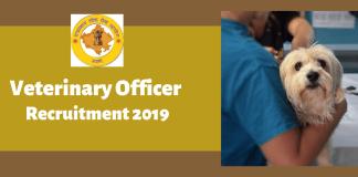 RPSC Veterinary Officer Recruitment Online Form 2019
