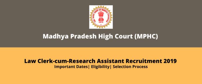 MPHC Law Clerk-cum-Research Assistant Recruitment 2019