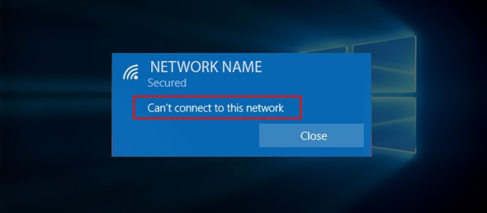 Can't connet to network issue