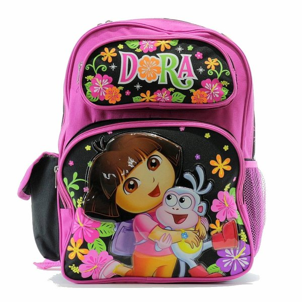 Dora Explorer Girl' Pink Black Backpack School Bag