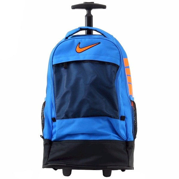 Nike Rolling Backpack Blue 19.5 School Bag