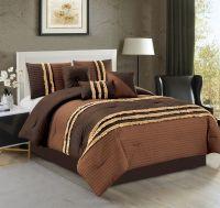 7 Piece Ruched Pleat Comforter Set | eBay