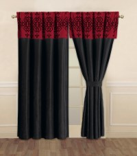Catherine Black and Red Curtain Set | eBay