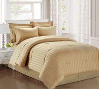 3 Piece Damask Stripe 500 Thread Count Cotton Comforter ...