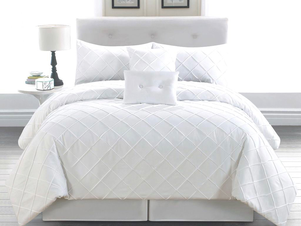 6 Piece Cal King Melia White Comforter Set