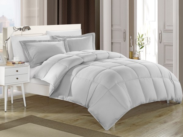 Gray Down Alternative Comforter Set