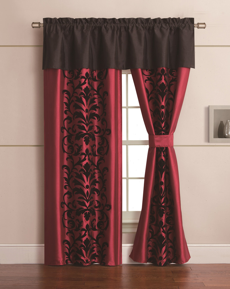Red curtains for living room - Black And Red Curtains For Living Room Decorate Our Home With