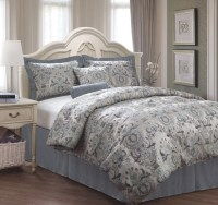 6 Piece Queen Kingston Jacquard Bedding Comforter Set