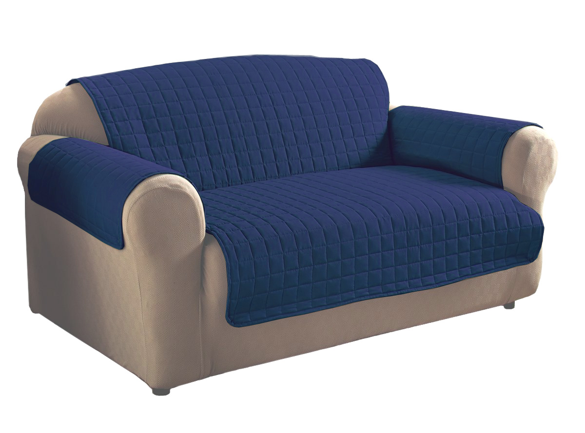 navy microfiber sofa three seater beds uk blue protector ebay
