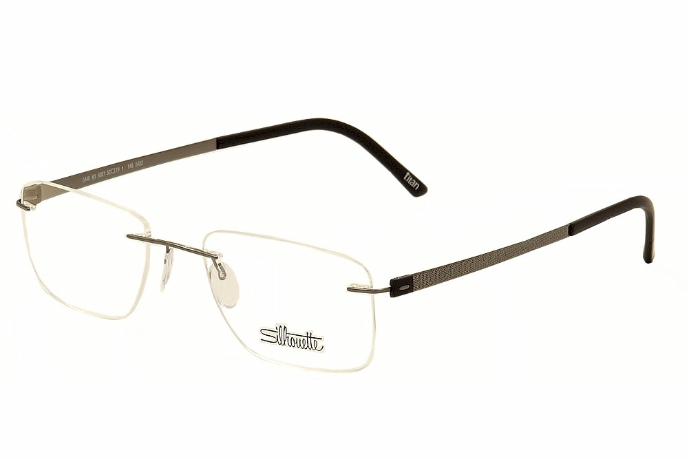 Silhouette Eyeglasses Titan Accent Chassis 5452 6061 Black