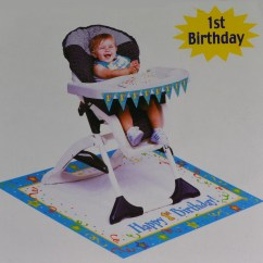 Mickey Mouse High Chair Decorations Cover John Lewis Paper Art Boys Blue 1st Birthday Party