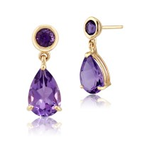 Gemondo 9ct Yellow Gold 2.25ct Natural Amethyst Two Stone ...