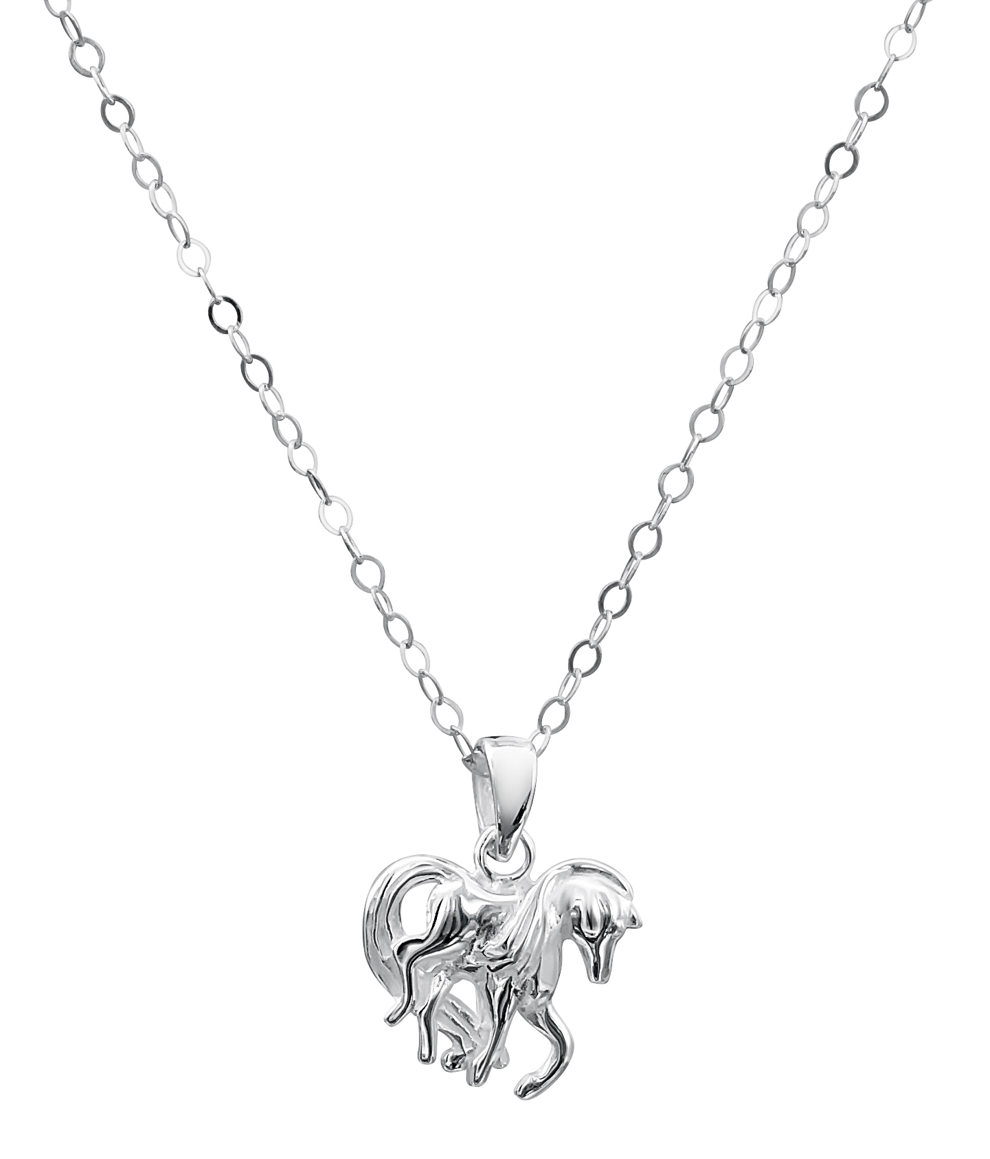 Jo For Girls Sterling Silver 35cm Horse Necklace