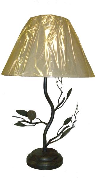 BIRD tree branch accent METAL TABLE LAMP desk light