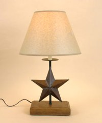 TEXAS STAR Americana WOODEN COUNTRY RUSTIC Table LAMP-21.5 ...