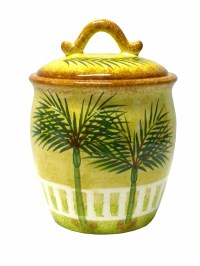 Ceramic PALM tree TROPICAL beach THEME canister kitchen ...