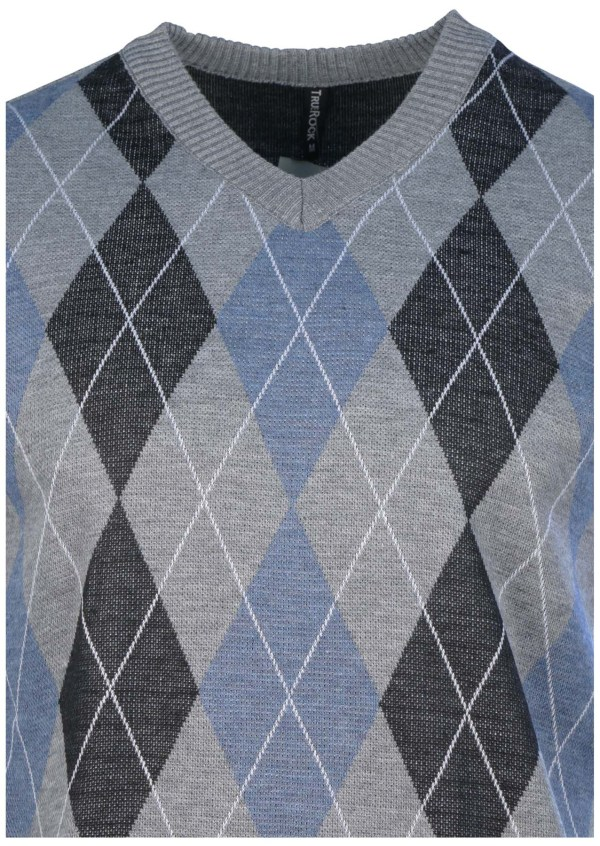 True Rock Men' Argyle -neck Sweater Vest