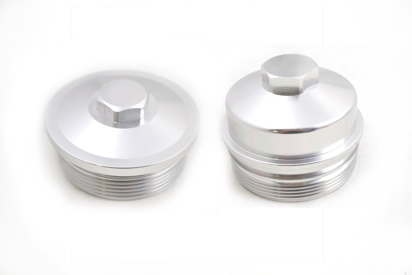 hight resolution of ppf billet aluminum oil fuel filter caps 03 07 ford 6 0l powerstroke diesel