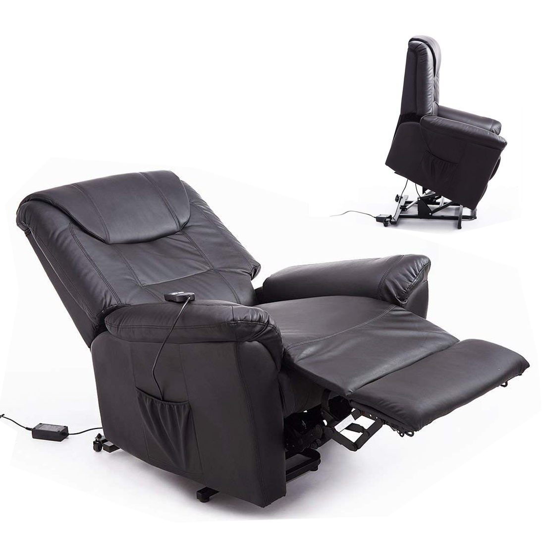 Lift Assist Chair Details About Electric Power Lift Chair Assist Sofa Armchair Recliner Pu Leather Padded R C
