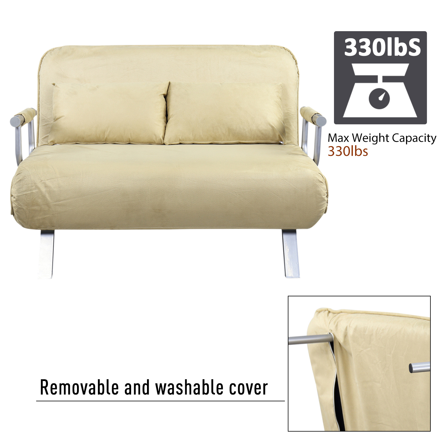 faux suede sofa cover maxwell look alike full size convertible sleeper bed lounger chair