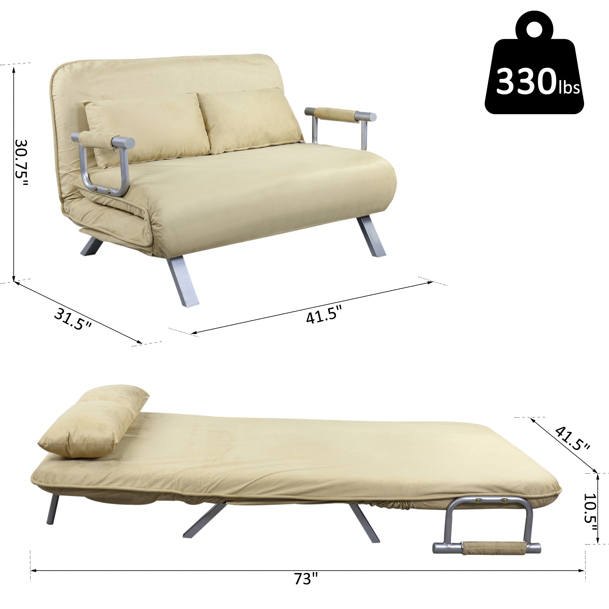 faux suede sofa cover folding steel set full size convertible sleeper bed lounger chair